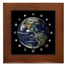 World Religions Framed Tile