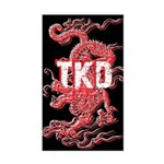 TKD Dragon Black Sticker