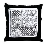 Celtic Letter L Throw Pillow