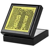Celtic Letter M Keepsake Box