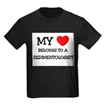 My Heart Belongs To A SEDIMENTOLOGIST Kids Dark T-