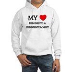 My Heart Belongs To A SEDIMENTOLOGIST Hooded Sweat