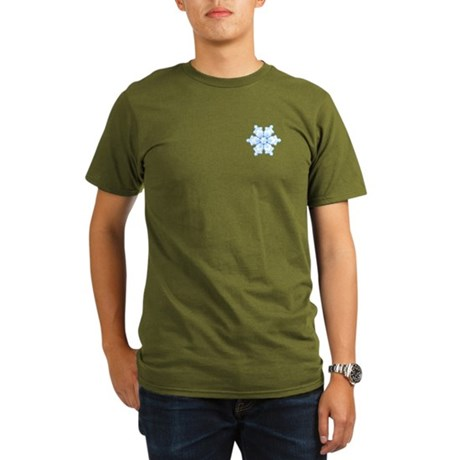 Flurry Snowflake I Organic Men's T-Shirt (dark)
