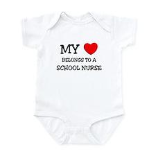 My Heart Belongs To A SCHOOL NURSE Infant Bodysuit