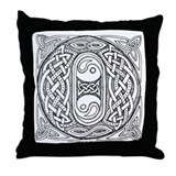 Celtic Letter O Throw Pillow