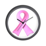 3D Pink Ribbon Wall Clock