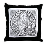 Celtic Letter Q Throw Pillow