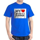 My Heart Belongs To A SAPPER T-Shirt