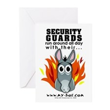 Security Guards Greeting Cards (Pk of 10)