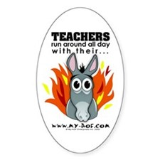Teachers Oval Sticker (10 pk)