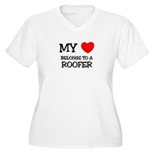 My Heart Belongs To A ROOFER T-Shirt