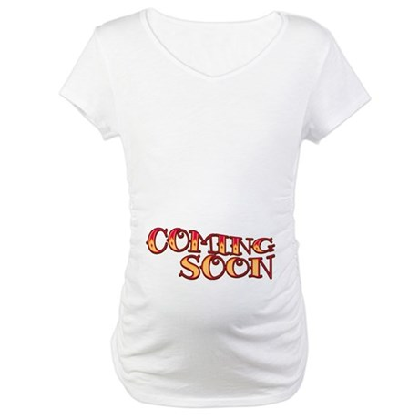 Vintage Coming Soon Maternity T-Shirt