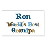 Ron - Best Grandpa Rectangle Decal