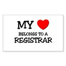 My Heart Belongs To A REGISTRAR Decal