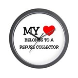 My Heart Belongs To A REFUSE COLLECTOR Wall Clock