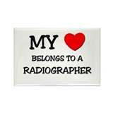 My Heart Belongs To A RADIOGRAPHER Rectangle Magne