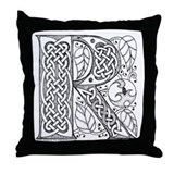 Celtic Letter R Throw Pillow