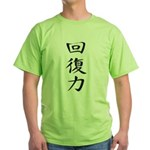 Resilience - Kanji Symbol Green T-Shirt