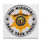 Mid Missouri Drug Task Force Tile Coaster