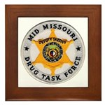 Mid Missouri Drug Task Force Framed Tile