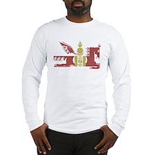Mongol Horse Distressed Long Sleeve T-Shirt