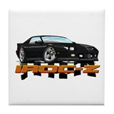 Black Camaro IROC-Z Tile Coaster