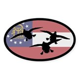 Georgia Ducks Oval Sticker (50 pk)