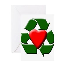 Recycle Heart Greeting Card