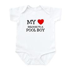 My Heart Belongs To A POOL BOY Infant Bodysuit