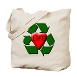 Recycle Life Tote Bag