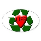 Recycle Life Oval Decal