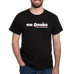 The Cowsills Name w/Magenta Flower Black T-Shirt