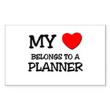 My Heart Belongs To A PLANNER Rectangle Decal