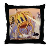 Vintage Sci Fi Throw Pillow