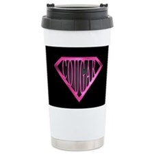SuperCougar(pnk/blk) Ceramic Travel Mug