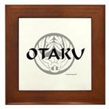 Otaku Flower Crest Framed Tile