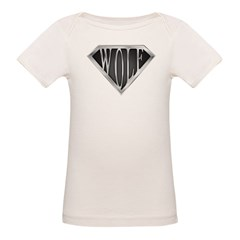 SuperWolf(metal) Organic Baby T-Shirt