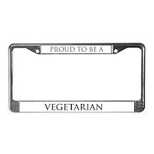 Proud Vegetarian License Plate Frame