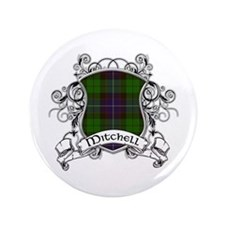 "Mitchell Tartan Shield 3.5"" Button"
