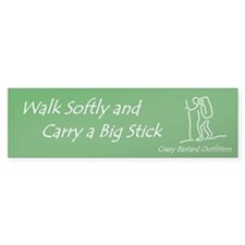 """Walk Softly"" Hiking Bumper Bumper Sticker"