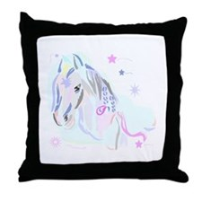 Colorful Horse2 Throw Pillow