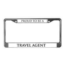 Proud Travel Agent License Plate Frame