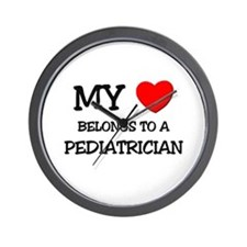 My Heart Belongs To A PEDIATRICIAN Wall Clock