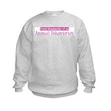 Grandmother of a Animal Behav Sweatshirt