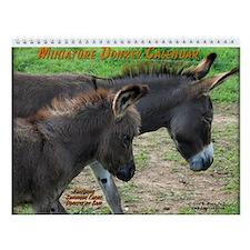 Miniature Donkey Wall Calendar