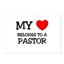 My Heart Belongs To A PASTOR Postcards (Package of