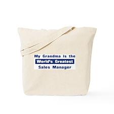 Grandma is Greatest Sales Man Tote Bag