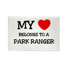 My Heart Belongs To A PARK RANGER Rectangle Magnet