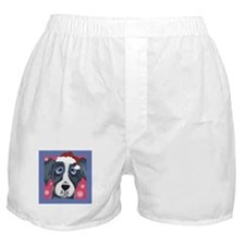 Greyhound Santa Boxer Shorts