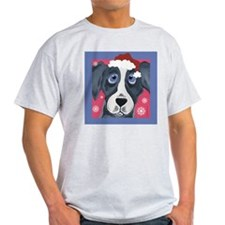 Greyhound Santa Ash Grey T-Shirt